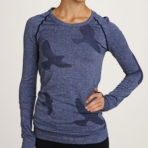Oiselle Navy Flyte Long Sleeve Top